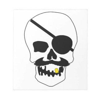 Cráneo del pirata blocs de notas