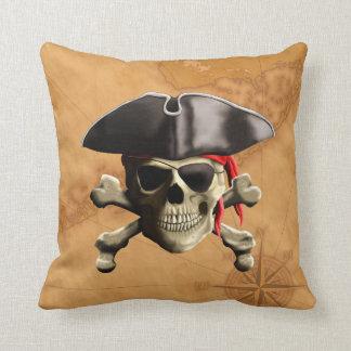Cráneo del pirata cojines