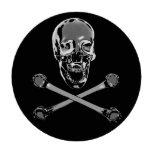 Cráneo del pirata del cromo