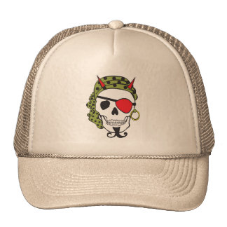 Cráneo del pirata del diablo gorras de camionero