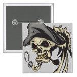 Cráneo del pirata del gancho del subtítulo pin