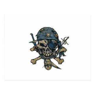 Cráneo del pirata del horror postales