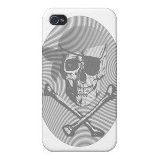 Cráneo del pirata del moaré iPhone 4 carcasa