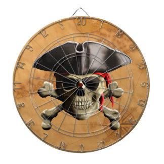 Cráneo del pirata tabla dardos