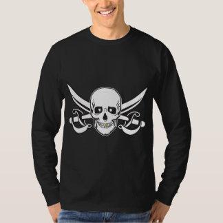 Cráneo del pirata/diente del oro remera