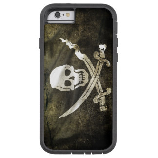 Cráneo del pirata en espadas cruzadas funda para  iPhone 6 tough xtreme