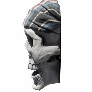 Cráneo del pirata fotoescultura vertical