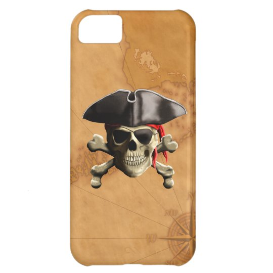 Cráneo del pirata funda iPhone 5C