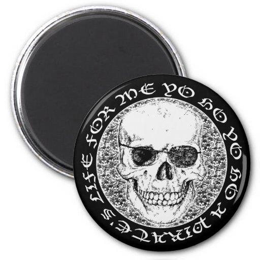cráneo del pirata iman de frigorífico