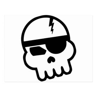 Cráneo del pirata informático del pirata postales