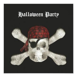 Cráneo del pirata - invitación del fiesta de