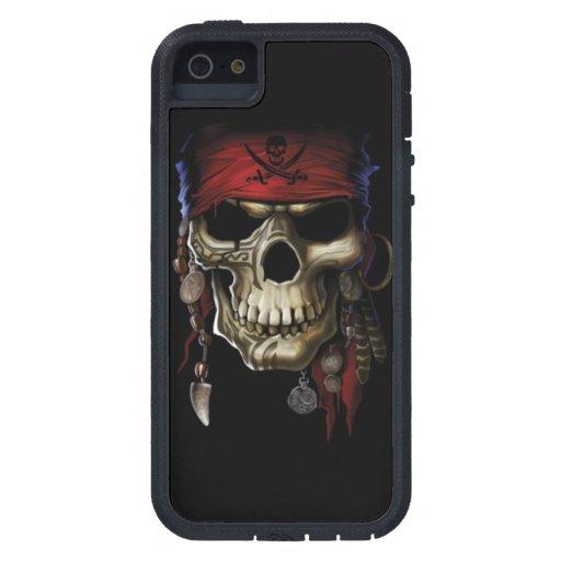 Cráneo del pirata iPhone 5 Case-Mate funda