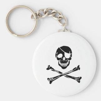 Cráneo del pirata llavero personalizado