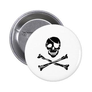 Cráneo del pirata pin redondo 5 cm