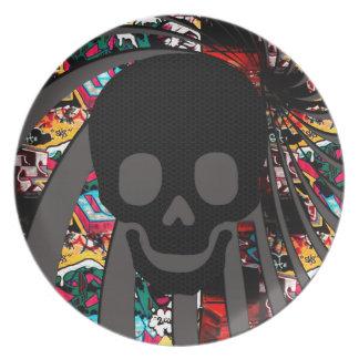 cráneo del pirata plato
