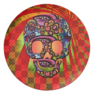 cráneo del pirata platos para fiestas