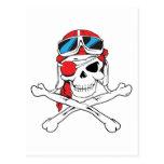 Cráneo del pirata postal