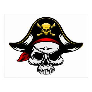 Cráneo del pirata postales