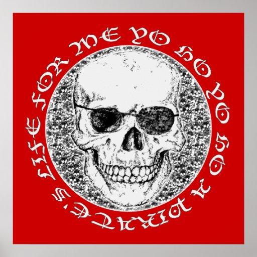 cráneo del pirata poster
