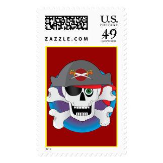 Cráneo del pirata sellos