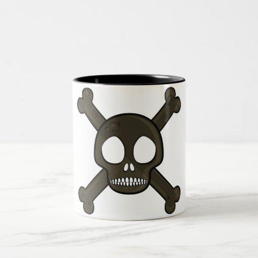 cráneo del pirata tazas