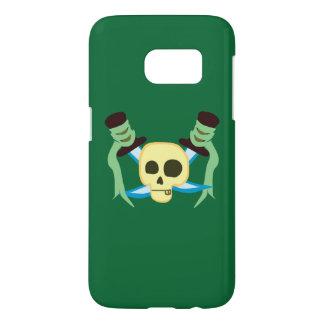 Cráneo del pirata y caja de las espadas SG7 Funda Samsung Galaxy S7