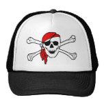 Cráneo del pirata y gorra de la bandera pirata