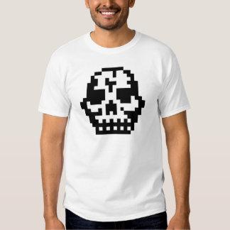 Cráneo del pixel remeras
