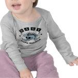Cráneo del punk del bebé camisetas