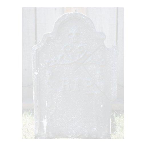 """Cráneo del RASGÓN de la piedra sepulcral de Hallow Folleto 8.5"""" X 11"""""""