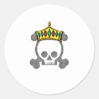 Cráneo del rey de la reina pegatina