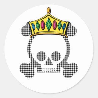 Cráneo del rey de la reina etiquetas