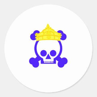Cráneo del rey de la reina etiqueta