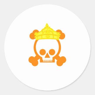 cráneo del rey de la reina pegatinas