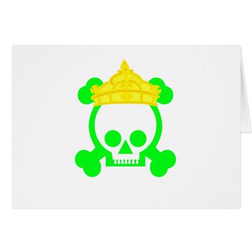 cráneo del rey de la reina tarjetón