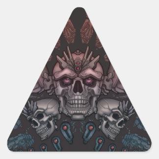 Cráneo del robot + Alas Calcomanías De Triangulos Personalizadas