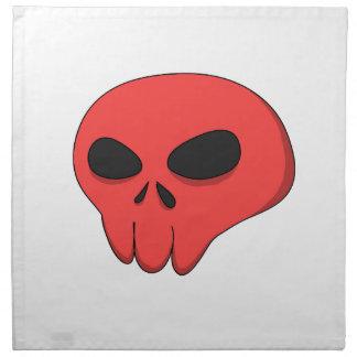 cráneo del rojo del dibujo animado servilleta