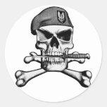 Cráneo del SAS Pegatina Redonda
