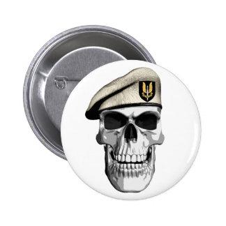 Cráneo del SAS Pin Redondo De 2 Pulgadas