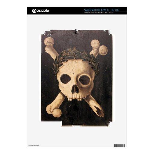 Cráneo del siglo XVII y bandera pirata Pegatinas Skins Para iPad 3