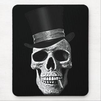 Cráneo del sombrero de copa alfombrilla de ratón