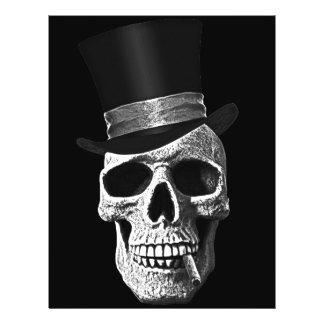Cráneo del sombrero de copa tarjetas informativas