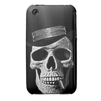 Cráneo del sombrero de copa iPhone 3 Case-Mate carcasa