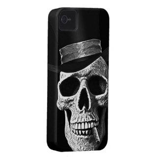Cráneo del sombrero de copa iPhone 4 Case-Mate fundas