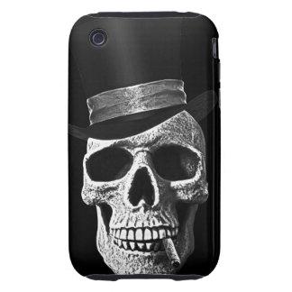 Cráneo del sombrero de copa iPhone 3 tough carcasa