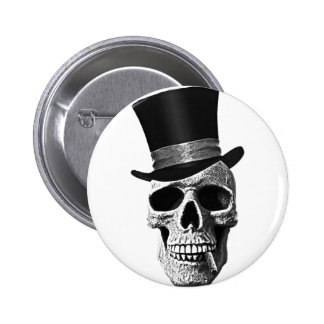Cráneo del sombrero de copa pins