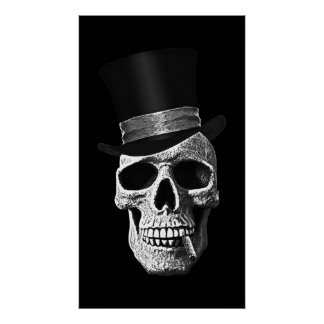 Cráneo del sombrero de copa póster