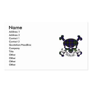 Cráneo del tartán del vertedero tarjetas de visita