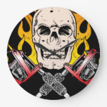 Cráneo del tatuaje reloj de pared