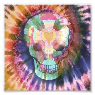 Cráneo del teñido anudado fotografia